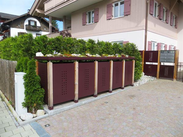 Müllbox QUINTO verzinkt 240 Liter