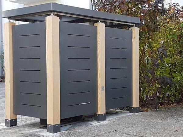 Mülltonnenbox Verkleidung Blech Querschlitz
