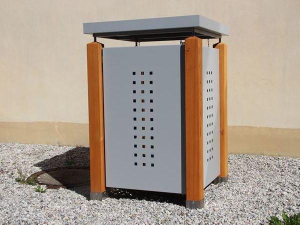 Müllbox MONO verzinkt 120 Liter