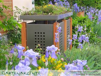 Mülltonnenbox Blech Edelstahl DUO 120