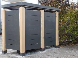 Mülltonnenbox Blech Querschlitz
