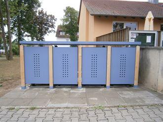 Wertstoffboxen verzinkt - Mülltonnenverkleidung QUATTRO 240 Liter