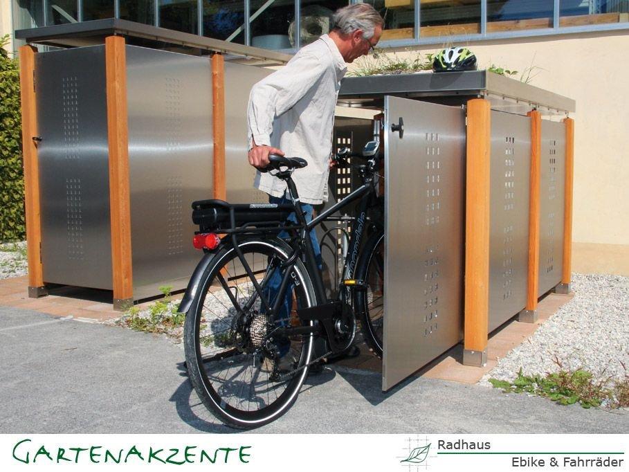 Fahrradgaragen- Radhaus Blech von Gartenakzente