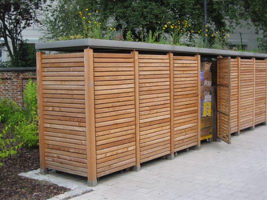 Gartenschrank Holzlatten waagerecht