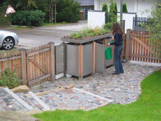 Mülltonnehaus Edelstahl