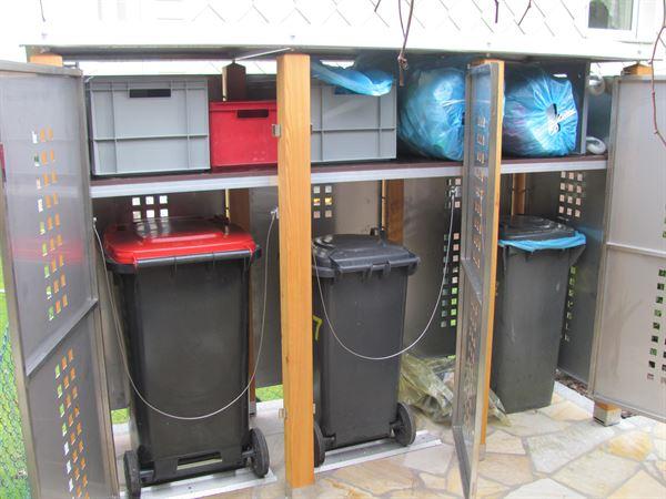Tonnenhaus für 3 Mülltonnen