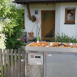 Pflanzenrahmen Betonmüllbox