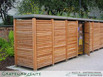 Gartenschrank Holz waagerecht