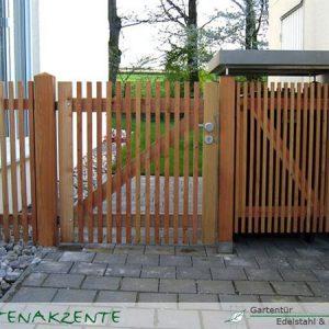 Gartentür aus Lärchenholz