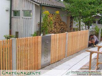 Gartenzaun aus Lärchholz