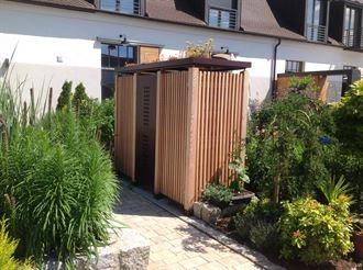 Gartenschrank Holz senkrecht Gartenakzente