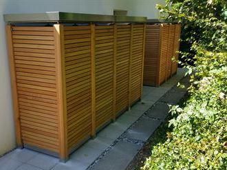 Gartenschrank Holz waagerecht Gartenakzente