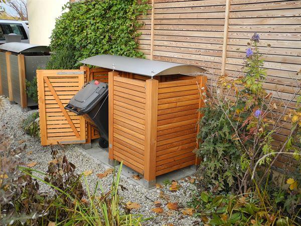 Mülltonnenbox mit ARCO Dach für 2 Tonnen von Gartenakzente