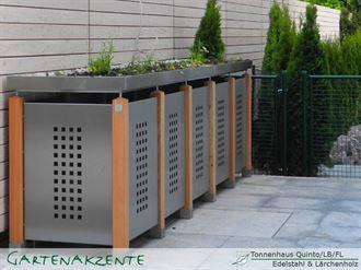 Müllbox Quinto Blech Edelstahl